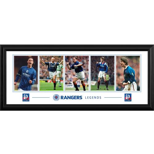 Rangers F.C. Framed Panoramic Print Legends