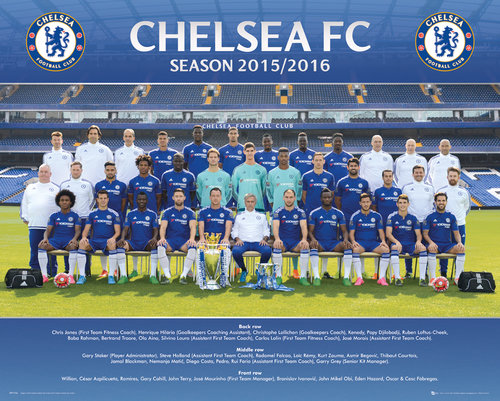 Chelsea Team Photo 15/16 Mini Poster