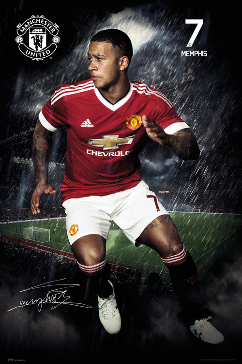 Manchester United Depay 15/16 Maxi Poster