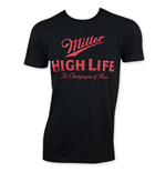 MILLER High Life Men's Black Classic Logo T-Shirt
