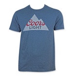 COORS Banquet Men's Blue Mountain Logo T-Shirt