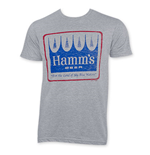 HAMM'S Distressed Logo Gray T-Shirt