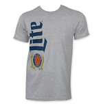 MILLER Lite Men's Grey Vertical Logo T-Shirt
