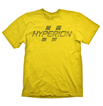 BORDERLANDS Hyperion Logo Men's T-Shirt, Extra Extra Large, Yellow (GE1707XXL)