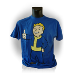 FALLOUT Adult Male Vault Boys Thumbs Up T-Shirt, Extra Extra Large, Blue