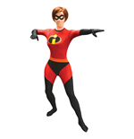 DISNEY Pixar Mrs Incredible Adult Unisex Cosplay Costume Morphsuit, Small, Multi-Colour