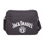 JACK DANIEL'S Large Old No.7 Brand Unisex Canvas Messenger Bag, One Size, Black