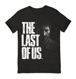 LAST OF US Adult Male Distressed Joel Logo T-Shirt, Small, Black