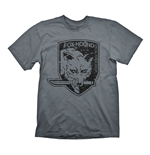 METAL GEAR SOLID Men's Foxhound Special Force Group Logo T-Shirt, Medium, Grey