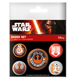 Star Wars Episode VII Pin Badges 5-Pack Resistance
