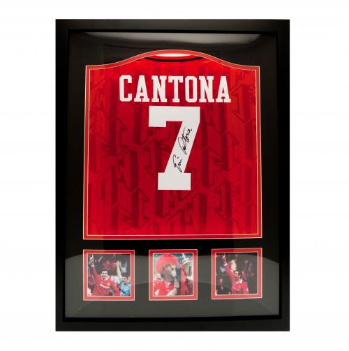 Manchester United F.C. Cantona Signed Shirt (Framed)