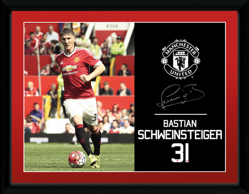 Manchester United Schweinsteiger 15/16 Framed Collector Print