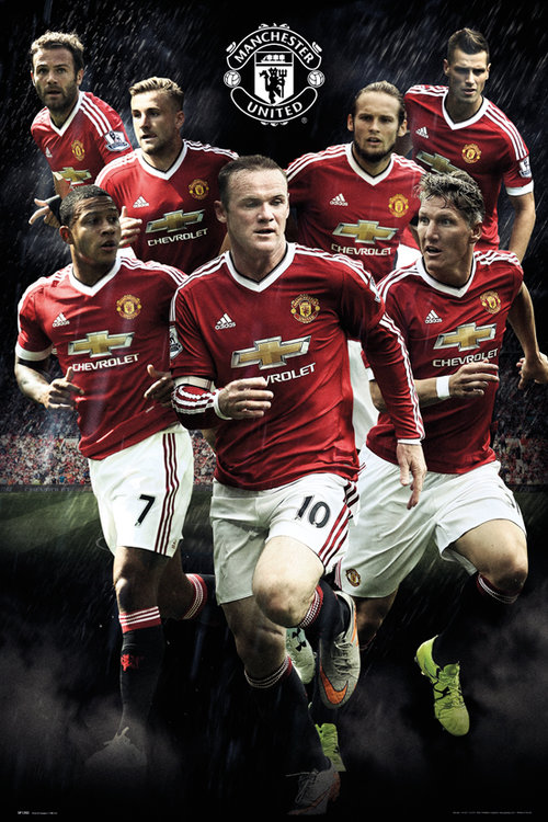 Manchester United Players 15/16 Maxi Poster