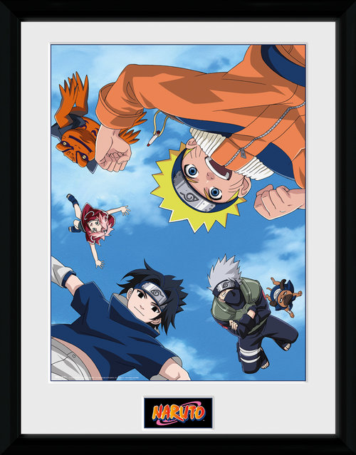 Naruto Falling Framed Collector Print