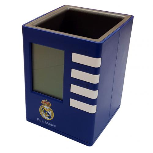 Real Madrid F.C. Pen Holder Alarm Clock