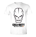 CALL OF DUTY Black Ops III Men's Skull Logo T-Shirt, Large, White
