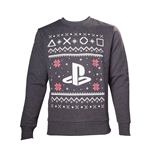 SONY Playstation Men's Logo Christmas Jumper, Medium, Grey