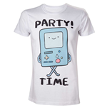 ADVENTURE TIME Adult Male Beemo Party Time! T-Shirt, Small, White