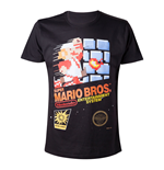 NINTENDO Super Mario Bros. Adult Male Classic NES Games Case T-Shirt, Small, Black