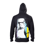 STAR WARS Adult Male Stormtrooper Retro Style Full Length Zipper Hoodie, Small, Black