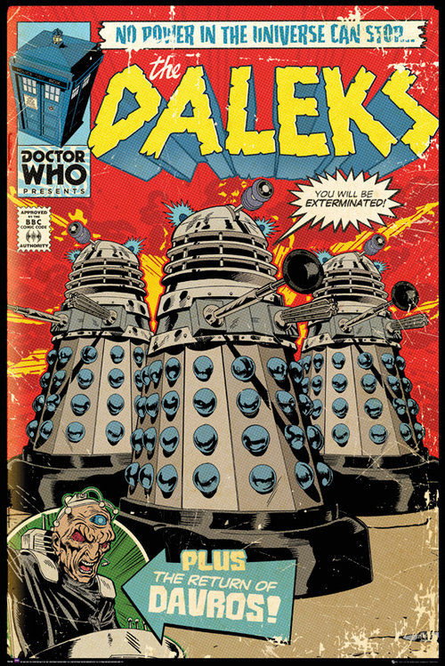 Doctor Who Red Dalek Comic Maxi Poster