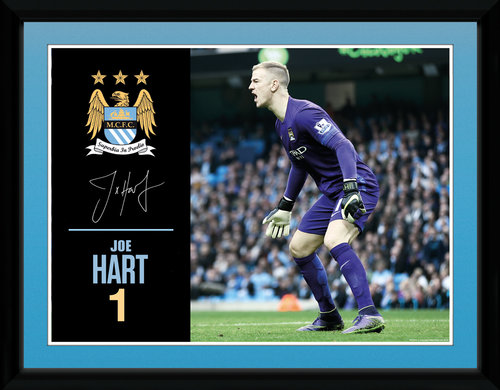 Manchester City Hart 15/16 Framed Collector Print