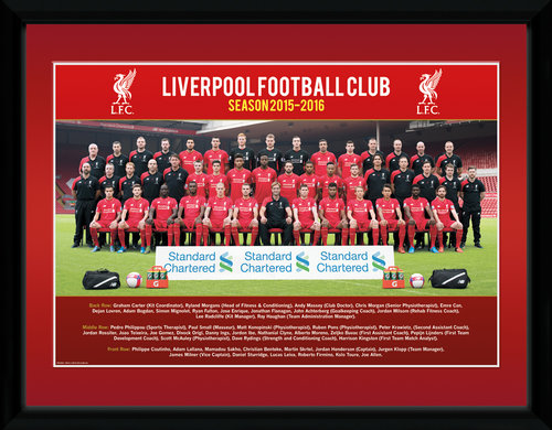 Liverpool Team Photo 15/16 Framed Collector Print