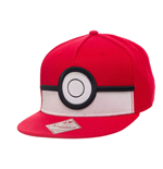 POKEMON Unisex 3D PokeBall Snapback Baseball Cap, One Size, Red