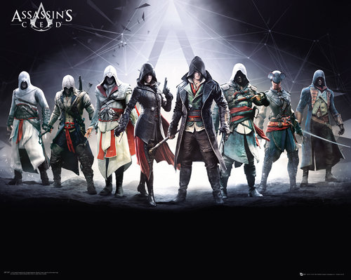 Assassins Creed Characters Mini Poster