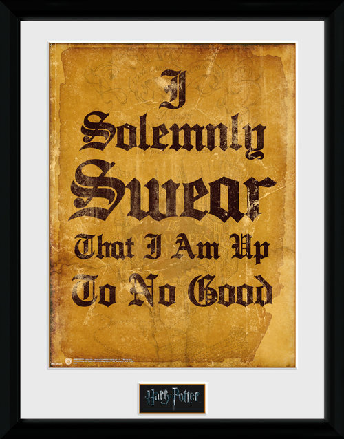 Harry Potter I Solomnly Swear Framed Collector Print