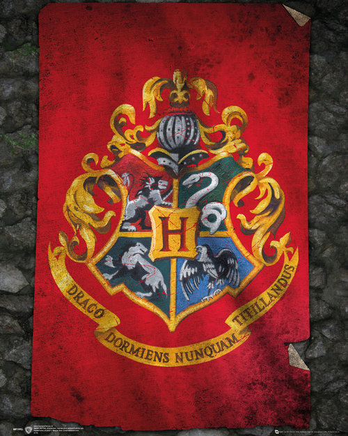 Harry Potter Hogwarts Flag Mini Poster
