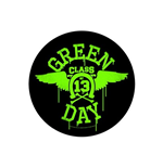 Green Day Back Patch: Neon Wings