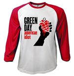 Green Day Men's Raglan/Baseball Tee: American Idiot