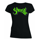 Ghost Women's Skinny Fit Tee: Green/Grey Keyline Logo