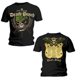 Five Finger Death Punch Men's Back Print Tee: Warhead