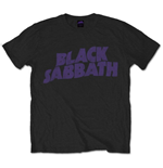 Black Sabbath Men's Tee: Wavy Logo Vintage