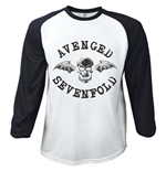 Avenged Sevenfold Men's Raglan/Baseball Tee: Classic Death Bat