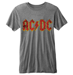 AC/DC Men's Burn-out Tee: Logo