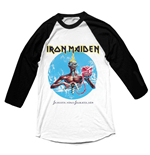 Iron Maiden Men's Raglan/Baseball Tee: Seventh Son