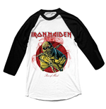 Iron Maiden Men's Raglan/Baseball Tee: Piece of Mind
