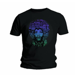 Jimi Hendrix Men's Tee: Afro Speech