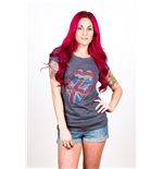 The Rolling Stones Women's Rhinestone Tee: Classic UK Tongue