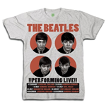 The Beatles Men's Boxed Tee: 1962 Performing Live