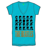 The Beatles Women's Burn-out Tee: Hard Days Night Faces