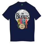 The Beatles Men's Tee: Sgt Pepper & Drum