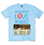 The Beatles Men's Tee: All you need is love Playcards