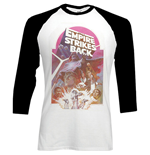 Star Wars Men's Raglan/Baseball Tee: The Empire Strikes Back Montage