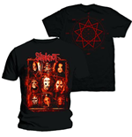 Slipknot Men's Back Print Tee: Rusty Face