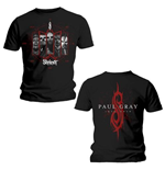 Slipknot Men's Back Print Tee: Paul Grey