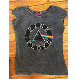 Pink Floyd Women's Acid Wash Tee: Vintage circle logo